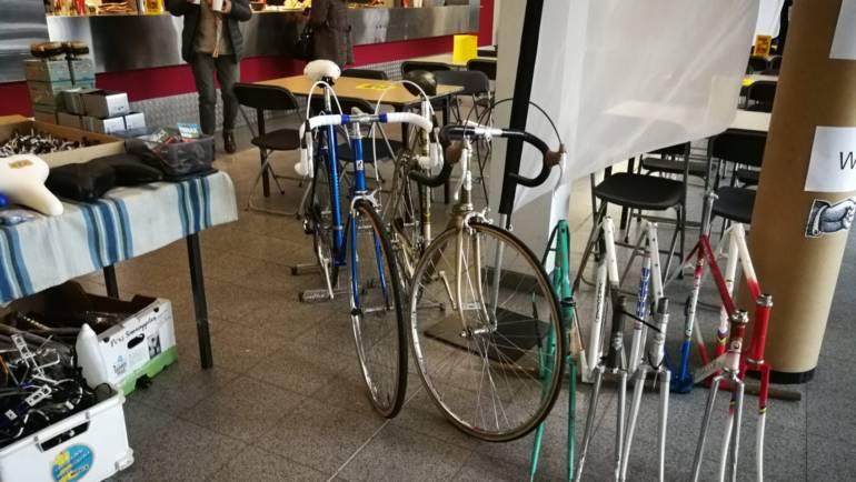 Vintage koersfietsen in Gent
