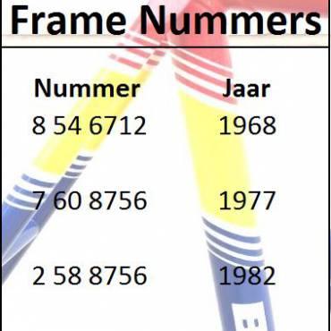 Frame Nummers Batavus klassieke racefiets